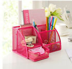 Office School Metal Mesh Desk Organizer Desktop Pencil Holder Stand Storage
