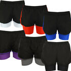 Ladies 2in1 Shorts Fitness Running Gym Breathable Football Jogging Hotpants