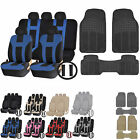 UAA All Season TRUCK Rubber Mats & Dual-Stitch Racing Polyester Seat Covers Set