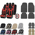 UAA All Weather SUV Rubber Mats & Dual-Stitch Racing Polyester Seat Covers Set