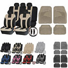 UAA Ultra HD CAR Rubber Mats & Dual-Stitch Racing Polyester Seat Covers Set