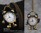 Retro Vintage Antique Steampunk Bronze Pocket Watch Quartz Necklace Pendant Gift