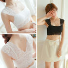 One Size Women Sexy Lace Bralette Bra Bustier Crop Tank Tops Cami Padded Blouse