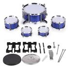 586-104 Drum Set Kids 5 Drums with Small Cymbal Stool Drum Sticks A2X6