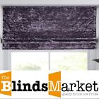 Made To Measure Luxury Lavender Crushed Velvet Roman Blind With Blackout Lining