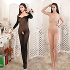 New Arrival Sexy Long-sleeved Coveralls Stockings Siamese Perspective Stockings