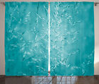 Meadow Grass with Blue Filtre Rural Plants Nature Picture Curtain 2 Panels Set