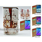 For Samsung Galaxy Note8 7 5 4 Edge - Spill Coffee Print Wallet Phone Case Cover