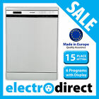 Made in Europe 15 Place Setting Stainless Steel Dishwasher Brand New LED Display