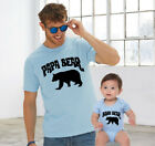 Papa Bear Baby Bear Cute Funny Slogan Fathers Dad Son Daughter Matching T shirts