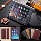 Luxury Slim Leather Tablet Folio Cards Slot Case Cover For iPad 2/3/4/Air 2/mini