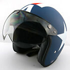Motocross Moto Casco Motorcycle Matt Blue A Star Helmet & Captain America Casque