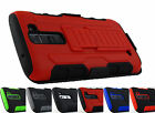 LG Treasure L51AL L52VL Escape 3 K373 Tank Armor Hybrid Case+Rugged Holster+Tool