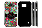 PERSONALIZED CASE FOR SAMSUNG S4 S5 S6 S7 ACTIVE HOT PINK PAISLEY