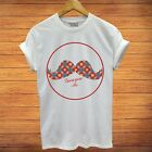 Grow Your Mustache Movember Charity Classic Cool Stylish Vintage Mens t shirt image