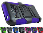 Samsung Galaxy J1 2016 Express 3 Amp 2 Armor Case & Belt Clip Holster+PryTool