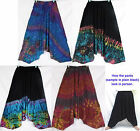 Gypsy Tie Dye Drop Crotch Harem Baggy Cotton Pants One Sz Men M-L Medium Large