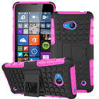 Rugged Armor Rubber Shockproof Protective Stand Case Cover For Nokia Lumia Model