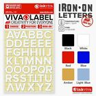 Inkviva Iron On Letters Heat Transfer Alphabet Label Name Appliqué Patch -12mm