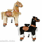Pony Ride on Horse Cycle Small Mechanical Walking Horse (Black & Gold ) Age 3+