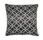 "Tacoma One Filled Diamond Stripe Cushion Cover Black/Grey/White (17"") 43 x 43cm"