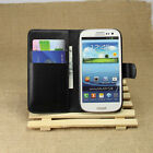 Luxury Slim Leather Card Wallet Flip Case Cover Stand Fr Samsung Galaxy S3 i9300