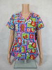 """Med Couture Christmas Scrub Top Style 9451. """"Cocoa Cuddles"""" CCDS *NEW* Free Ship"""