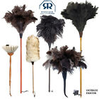 Redecker Natural Ostrich Feather Goat Fur Long Handle Duster Brush Magic Cleanin