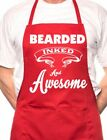 Bearded Inked & Awesome Tattoo BBQ Cooking Funny Novelty Apron