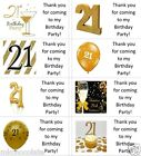 40 x Personalised 21st Gold/21 labels/stickers/birthday/party/cake/sweet/bags