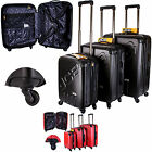 BRAND NEW JCB SET OF 3 SUPER-DURABLE 4 WHEELED SUITCASES FOR UNISEX