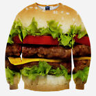 Eater Series 3d Hamburger Candy Sweater Hoodies Crewneck Jumpers Sweatshirt Tops