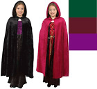 """CHILD HOODED CLOAK KING QUEEN RENAISSANCE MEDIEVAL COSTUME CAPE ROBE 40"""" W/ HOOD"""