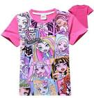 Girls MONSTER HIGH summer T-SHIRT. Sizes 5,6,7,8 and 10. AU STOCK FAST POSTAGE