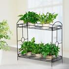 Heavy Duty Tiered Plant Stand Indoor Wrought Iron Flower Pot Holder Shelves New