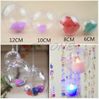 Christmas Plastic Round Ball Clear Bauble Ornament Gift Present Xmas Tree Craft