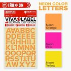 Inkviva Neon 3D Iron On Letters Heat Transfer Label Silicone Name Appliqué 12mm