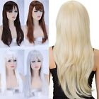 bob haircut with layers - US Sale Wigs With Bangs Women Ladies Costume Full Head Wig Long Heat Resistant