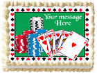 POKER CASINO Image Edible cake topper design