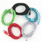 3M/10FT Hemp Rope Micro USB Charger Sync Data Cable Cord for Cell Phone TR