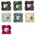 NEW WARM ULTRA SOFT CUDDLY CABIN SHERPA THROW Blanket Oversized Two Tone Color