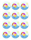 SUMMER BEACH BALL Party Image Edible cake topper decoration