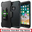 HEAVY DUTY RUGGED HOLSTER CASE WITH KICKSTAND BELT CLIP FOR