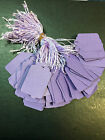 100 x 32mm x 22mm Purple Strung String Tags Swing Price Tickets Tie On Labels