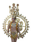 Gold Angel Dance Dress Costume Set Headdress Outfit Set Diva Showgirl Samba