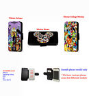 Disney Inspired villain mickey characters leather phone case for iPhone Huawei