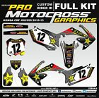 HONDA CRF 250 CRF 450 2010 2011 2012 2013 MX Graphics Decals Stickers Decallab
