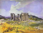 Temple of Apollo (classic Greek landscape art print)