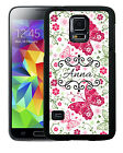PERSONALIZED RUBBER CASE FOR SAMSUNG NOTE 3 4 5 7  BUTTERFLIES FLOWERS