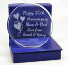 Engraved 30th Pearl, Wedding Anniversary Presentation Cut Glass Gift